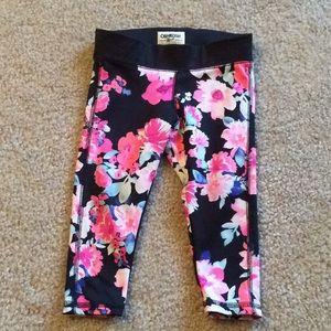 Osh kosh floral leggings 2T
